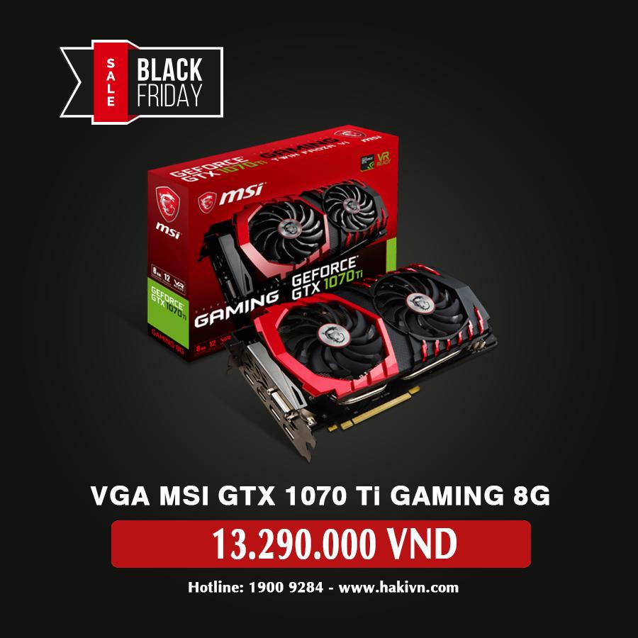 Card màn hình Msi 8GB GTX1070 Ti Gaming 8G - hakivn