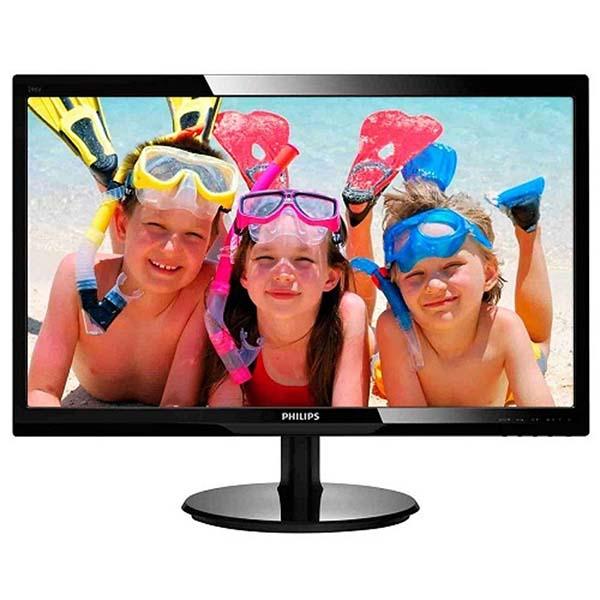 MÀN HÌNH PHILIPS 240V5QDSB/74 /23.8 INCH /IPS /VGA /DVI-D /HDMI /ĐEN (BLACK) - 240V5QDSB/74 - hakivn