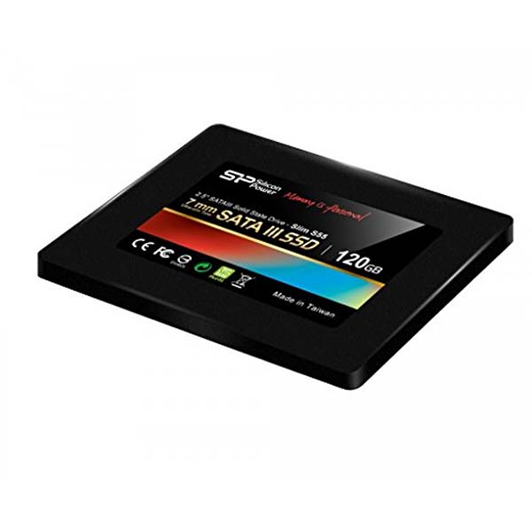 Ổ SSD / SILICON S55 120GB/7MM/2.5INCH/SATAIII/ĐEN (BLACK) SP120GBSS3S55S25 - hakivn