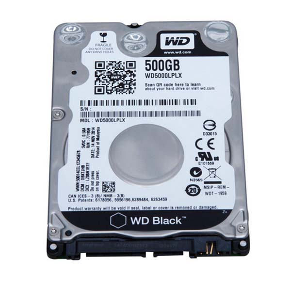 WD HDD Black 500GB 2.5