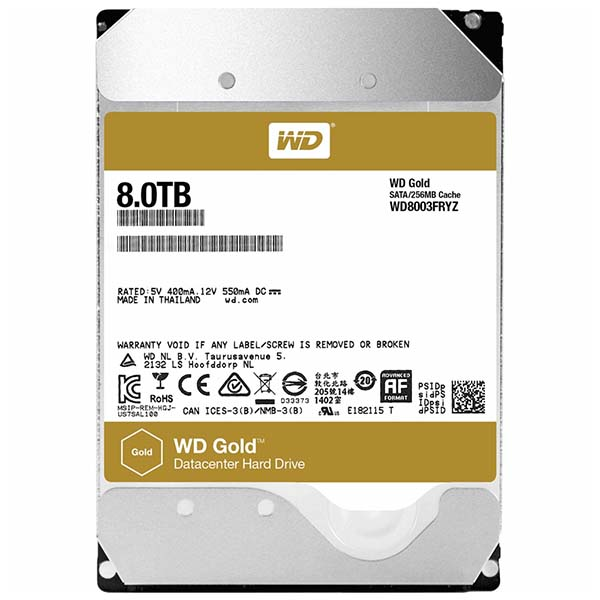 WD HDD GOLD 8TB  3.5