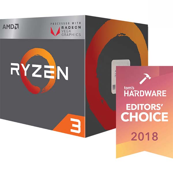 Bộ vi xử lý / AMD Ryzen 3 2200G 3.5 GHz - RYZEN 3 2200G - hakivn