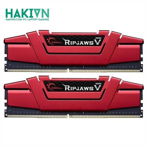 RAM G.SKILL RIPJAWS V-16GB (8GBx2) DDR4 3000MHz- F4-3000C16D-16GVRB - hakivn