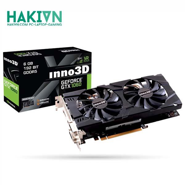 VGA Inno3D GeForce GTX 1060 6 GB Twin X2 - N106F-2SDN-L5GS - hakivn