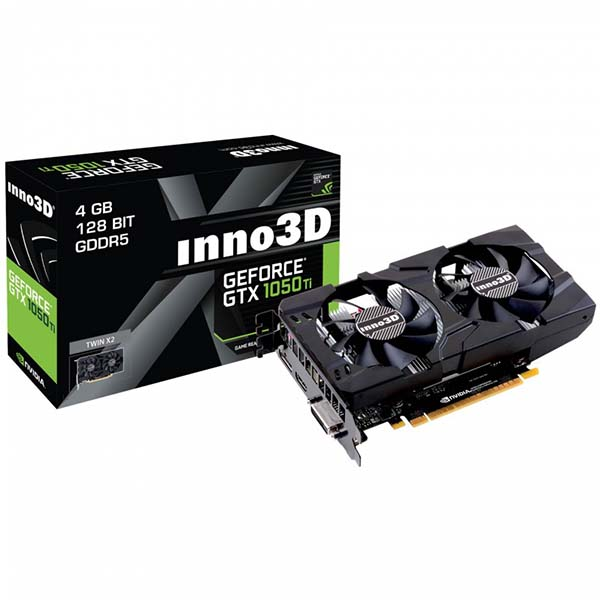 VGA INNO3D GeForce GTX 1050Ti Twin X2 4GB N105T-1DDV-M5CM - hakivn