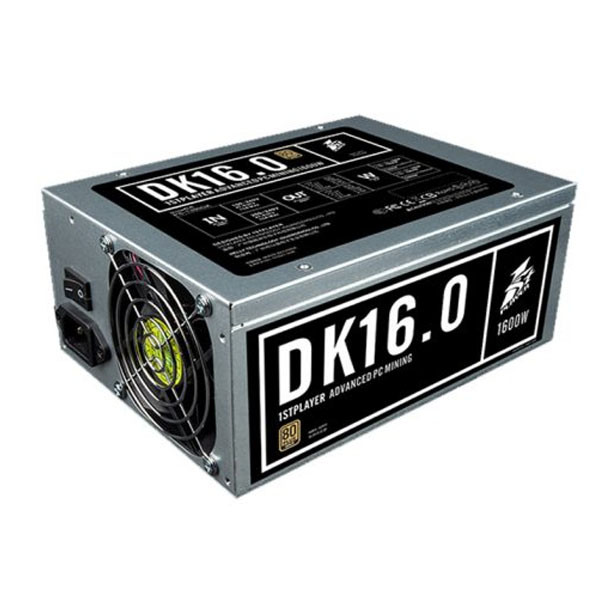 Nguồn 1STPLAYER DK PS-1600DK Non-Modular Design 1300W 80 Plus Gold 1600W - hakivn