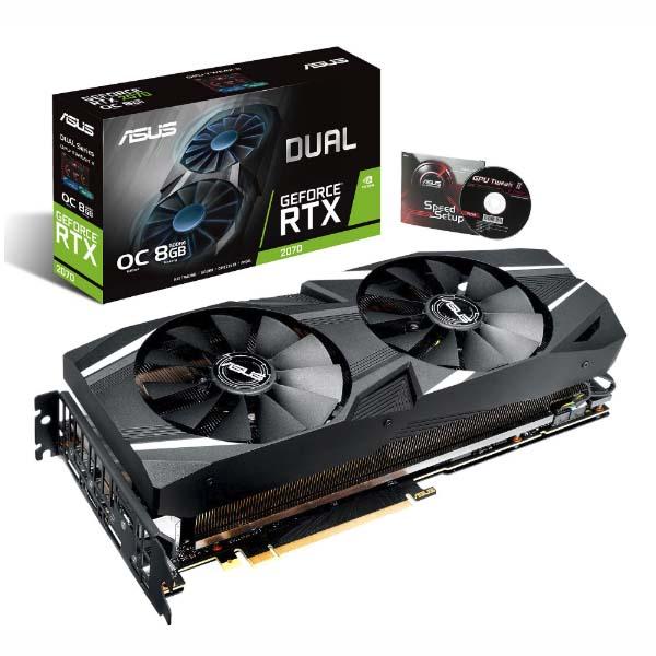 VGA ASUS GeForce RTX 2070 8GB GDDR6 DUAL OC (DUAL-RTX2070-O8G) - hakivn