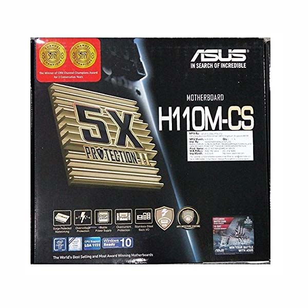 Mainboard Asus H110M-CS (Chipset Intel H110/ Socket LGA1151/ VGA onboard) - hakivn
