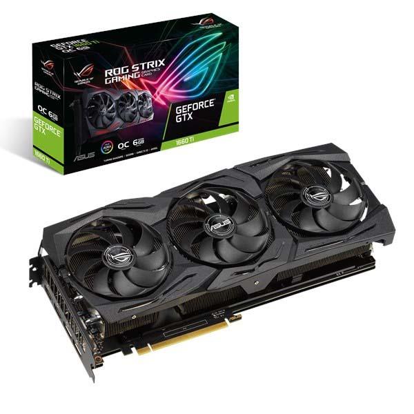 VGA Asus ROG-STRIX-GTX1660TI-O6G-GAMING (NVIDIA Geforce/ 6Gb/ GDDR6/ 192Bit) - hakivn