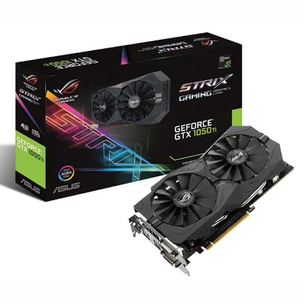 VGA ASUS GeForce GTX 1050Ti 4GB GDDR5 ROG Strix OC (ROG-STRIX-GTX1050TI-O4G-GAMING) - hakivn
