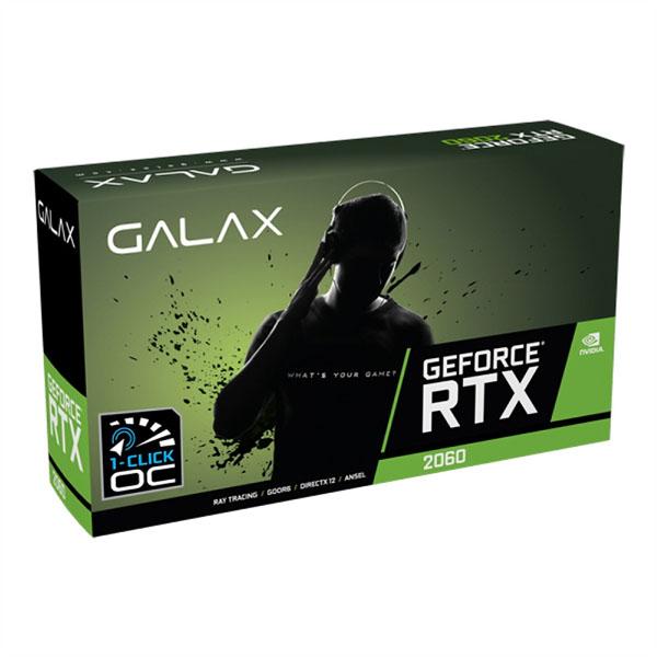 VGA Galax GeForce RTX 2060 1 Click OC 6GB GDDR6 26NRL7HPX7OC - hakivn