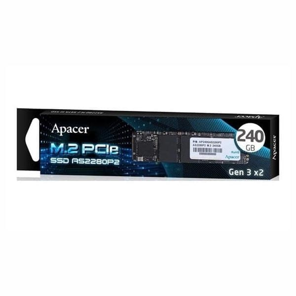 Ổ SSD Apacer AS2280P2 240GB NVMe M.2 PCIe 3.0 TLC (AP240GAS2280P2-1) - hakivn