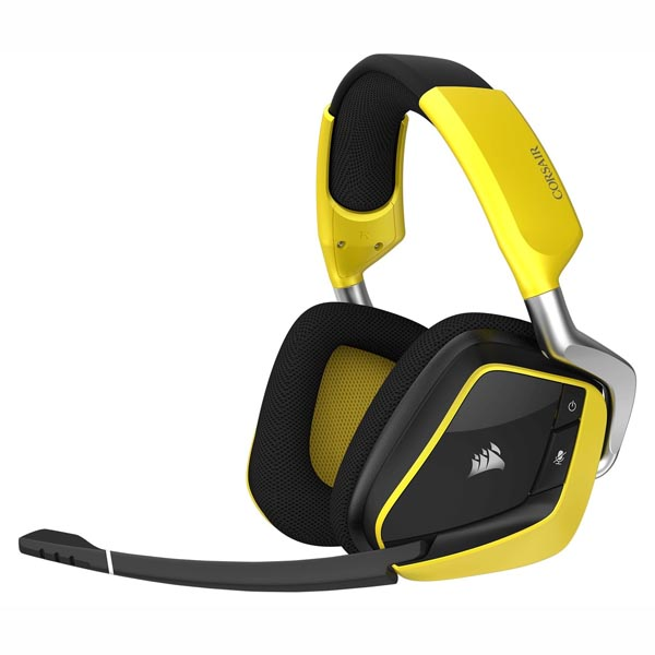 Tai nghe Corsair VOID Pro V2 RGB 7.1 Wireless SE Premium - Yellow CA-9011150-AP - hakivn
