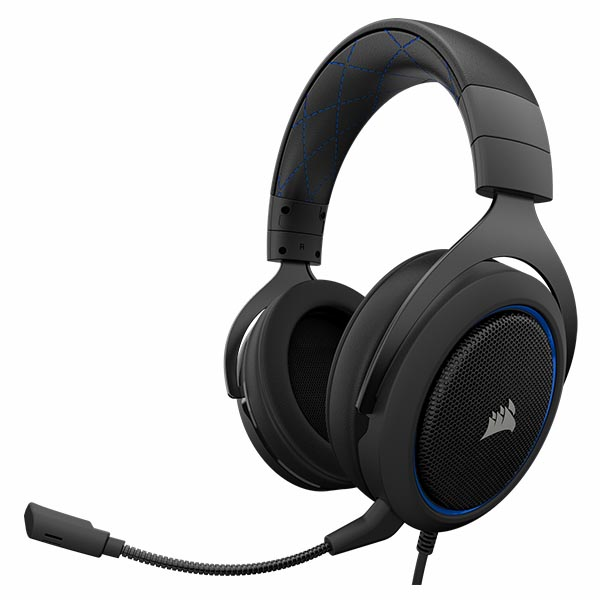 Tai nghe Corsair HS50 Stereo Blue CA-9011172-AP - hakivn