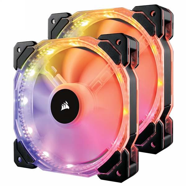 Bộ 2 quạt máy tính 140mm Corsair HD140 RGB LED kèm bộ điều khiển CO-9050069-WW - hakivn