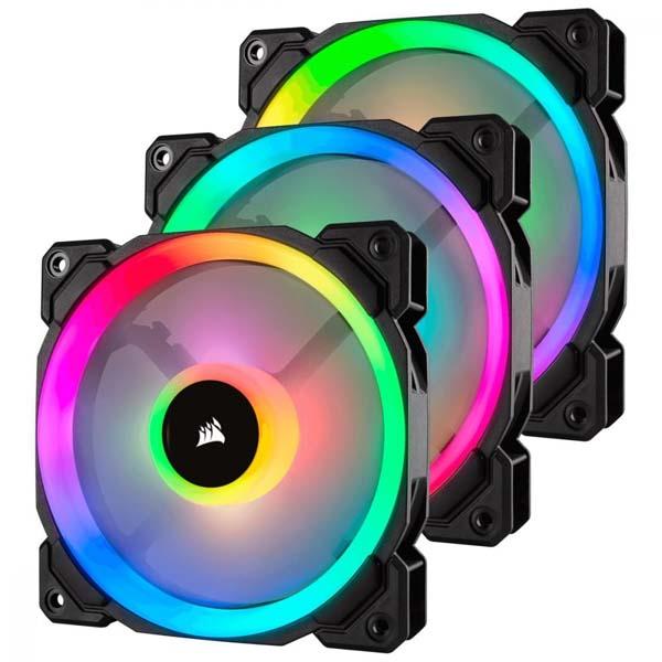 Bộ 3 quạt máy tính 120mm Corsair LL120 RGB kèm Lighting Node PRO CO-9050072-WW - hakivn