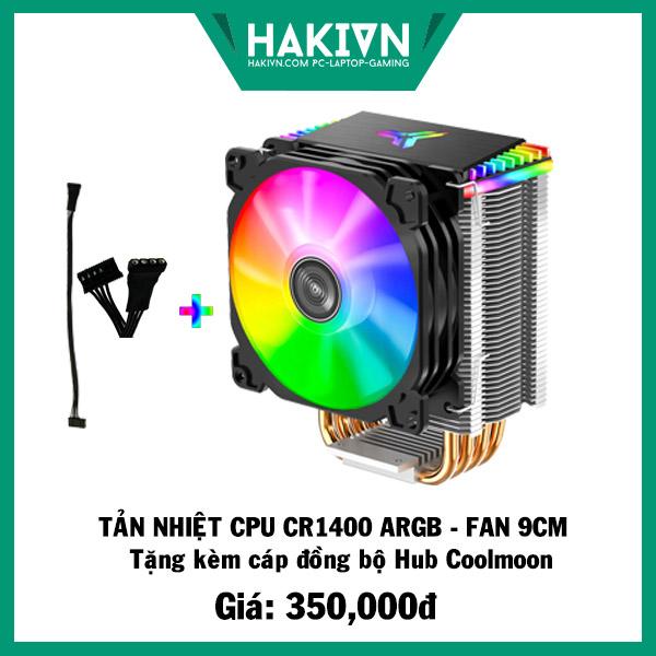 Tản Nhiệt CPU Jonsbo CR1400 Led RGB - Tặng dây đồng bộ Hub Coolmoon - hakivn