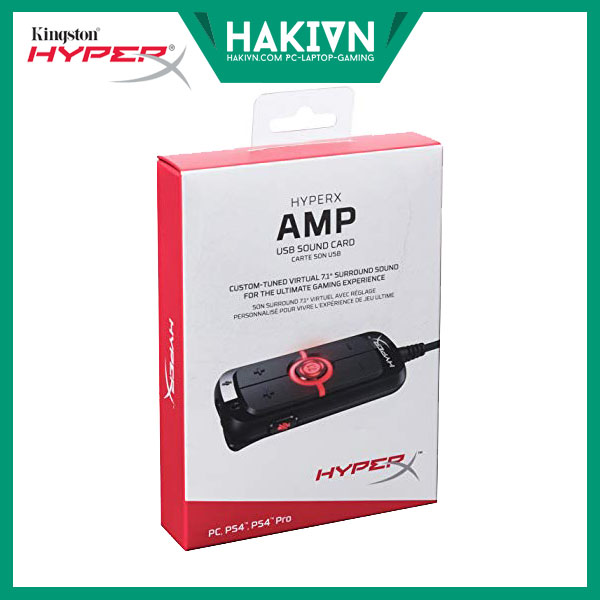 HyperX AMP USB Sound Card - Virtual 7.1 - hakivn