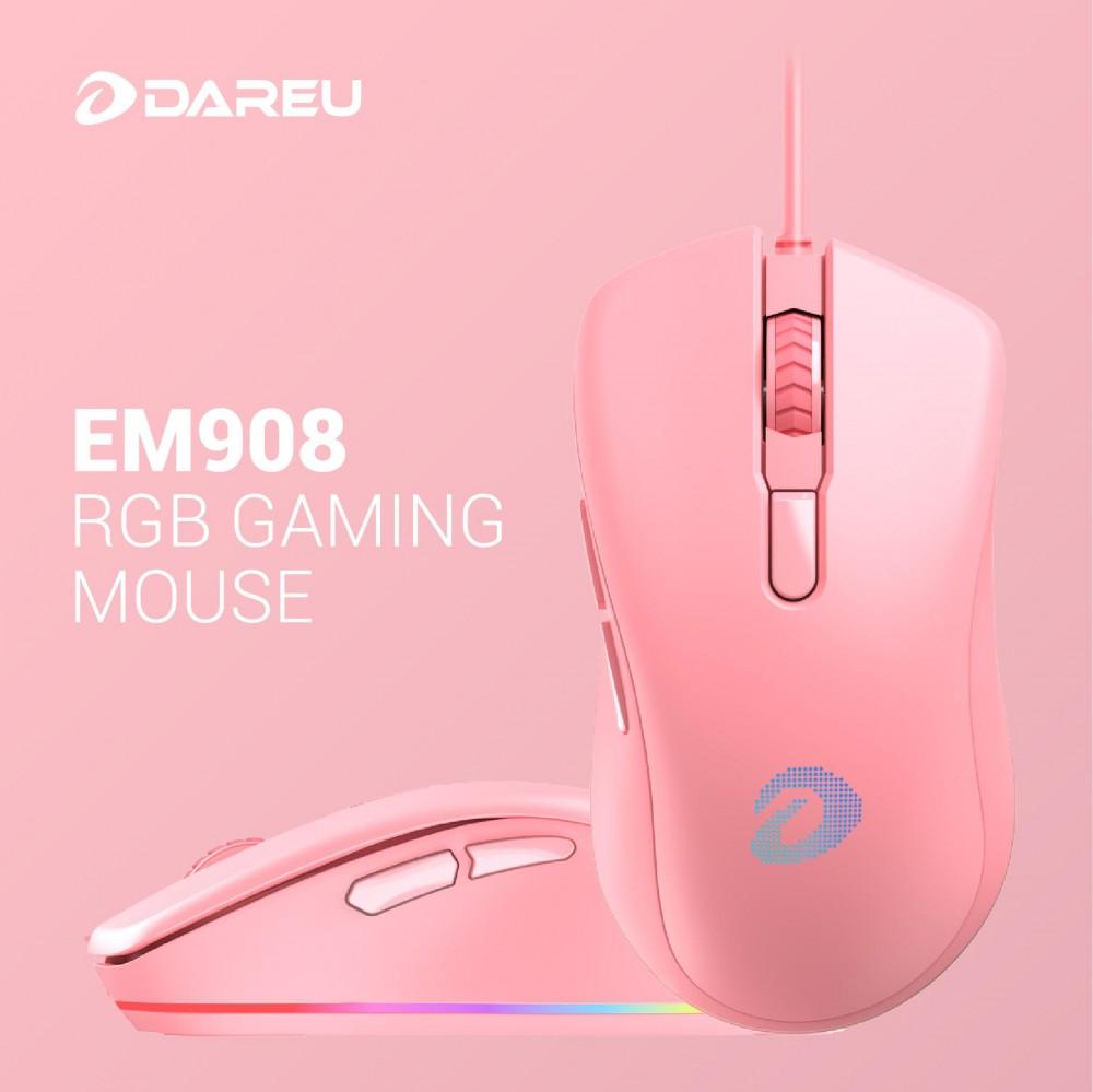 Chuột Gaming Dareu EM908 Queen (Pink) - hakivn