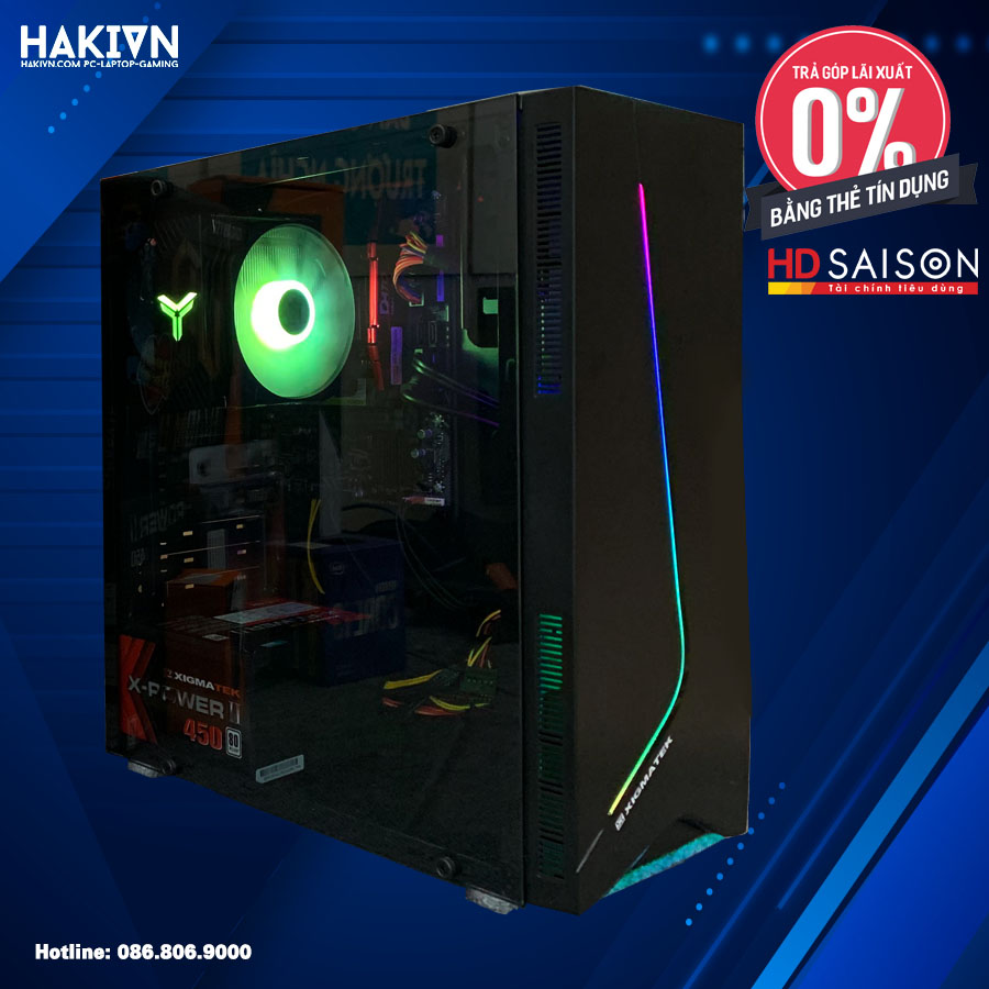 PC HAKI EROS I3 10100F / 8GB / GTX 1650 DDR6 4GB / SSD120GB - hakivn